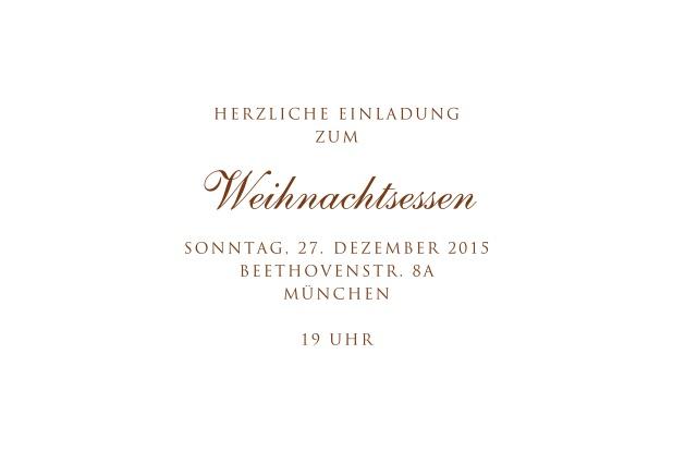 Weihnachtskarten Einladung.Lebkuchenmann