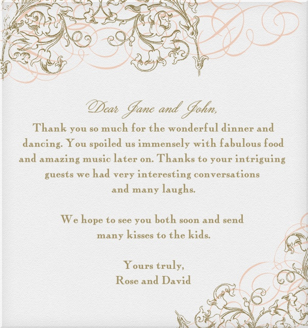 Wedding card online with floral border.