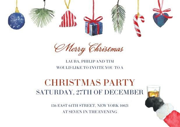 santa s rest christmas party invitations