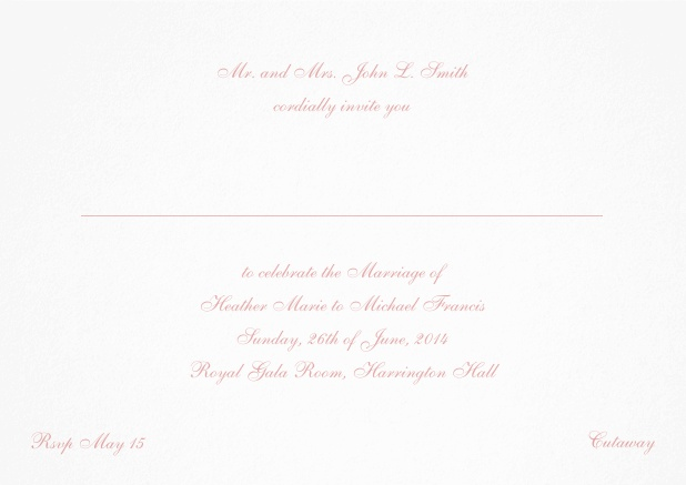Card with a classic hand written font - available in different colors. Pink.