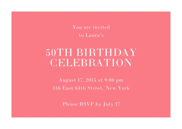50th Birthday Online Invitations 50 And Happy