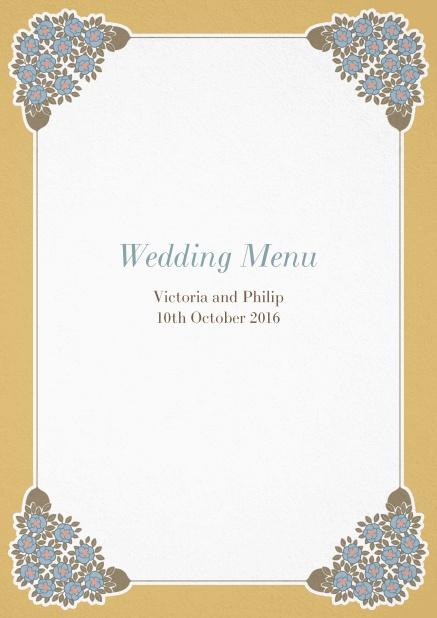 corner ornaments menu menu cards