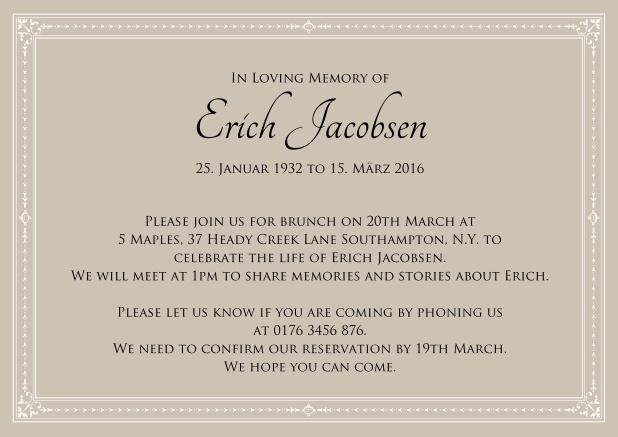 present forever memorial invitations