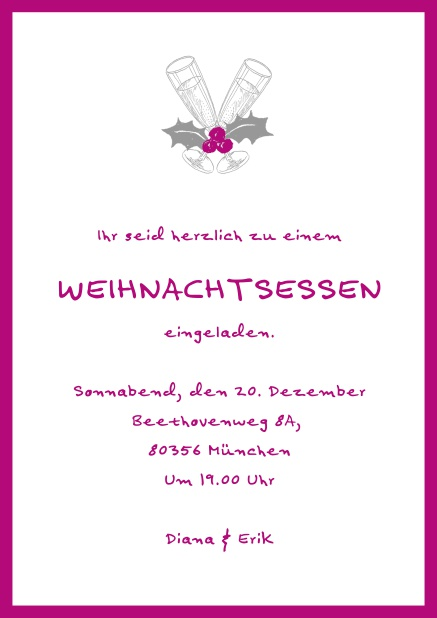 Text Weihnachtsfeier Einladung Geschäftlich.Weihnachtsessen