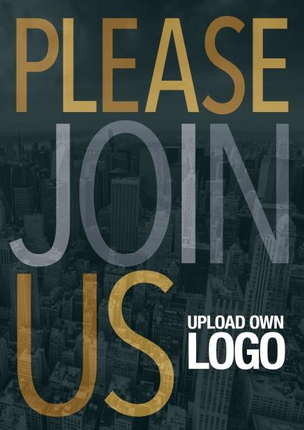 Please Join Us Dark Corporate