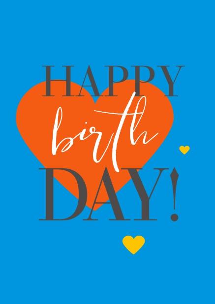 happy birthday mit herzen - terminierte geburtstagskarten