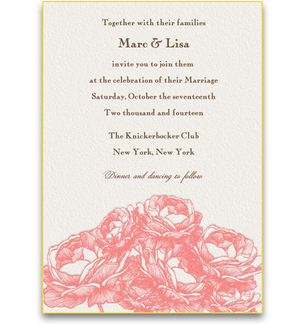 Springlike Wedding Rehearsal Dinner Invitation with artistic floral elements.