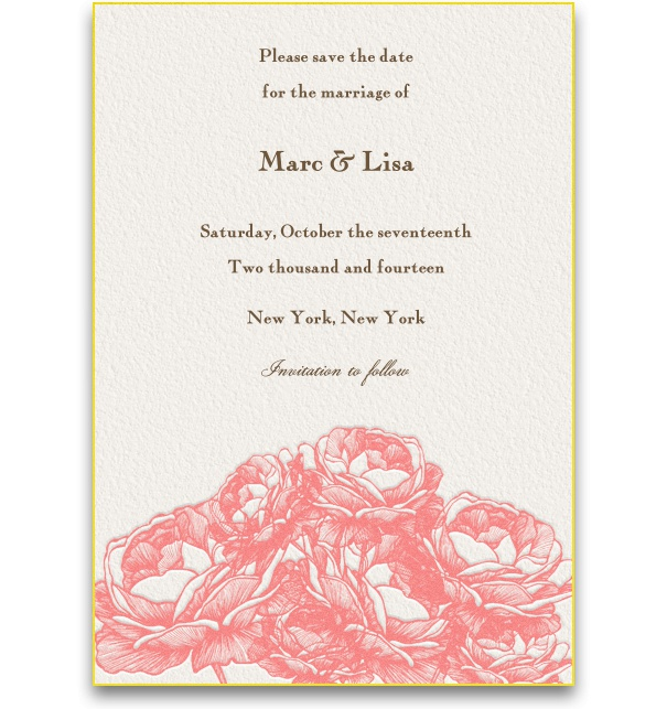 Spring-like Online Save the Date Card for weddings with artistic floral motifs.