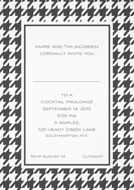 Classic invitation card with Bavarian style frame in various colors. Grey.
