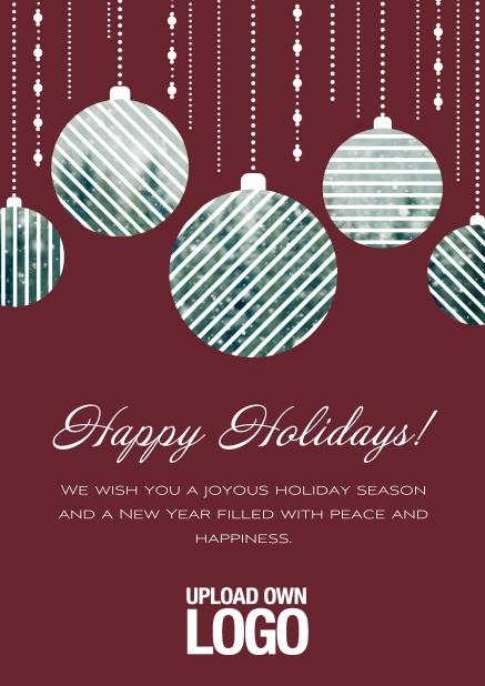 Corporate Christmas Cards.Christmas Photo Balls