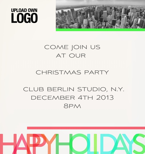Design draft Christmas party invitations