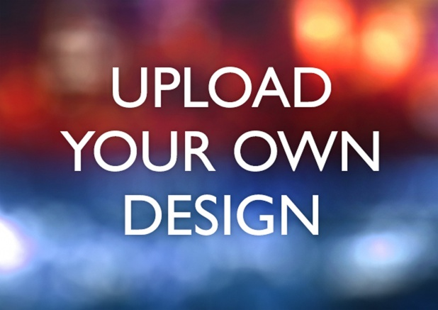 A6 landscape template for uploading your own design.