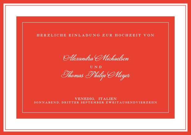 Lissabon Nächte - Klassische Einladungskarten