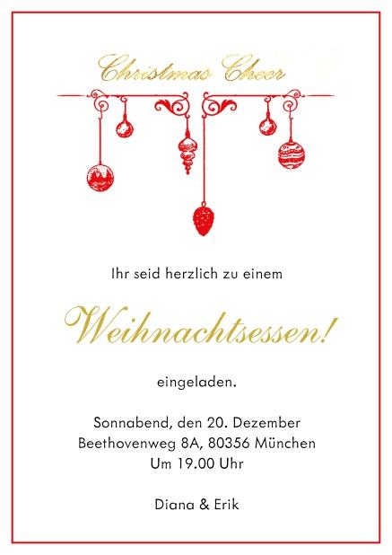 Einladungskarten Online   Weihnachtsfeier