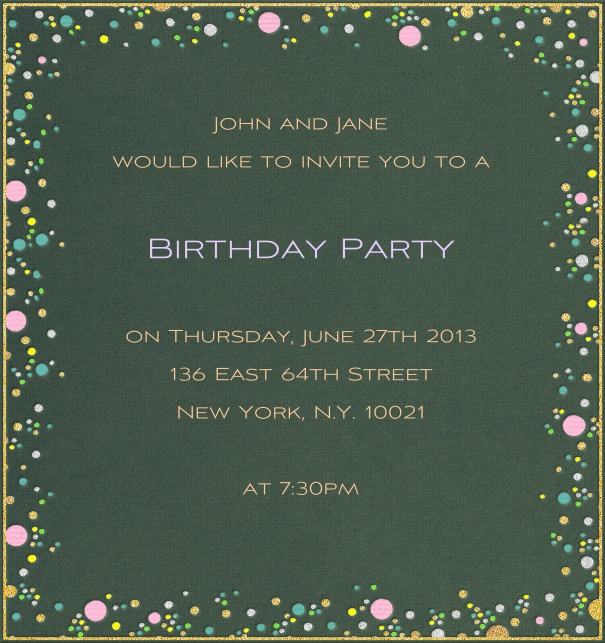 High Format Spring Seasonal Party Invitation Template With Motif