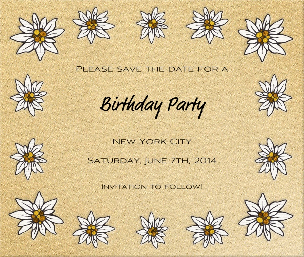 Beige Spring Themed Seasonal Engagement Save the Date Card with Daisies.