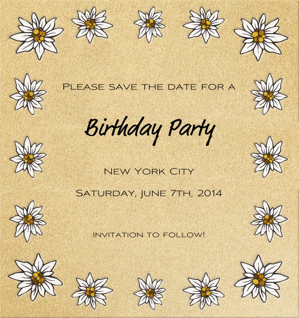 High Beige Spring Themed Seasonal Engagement Save the Date Card with Daisies.