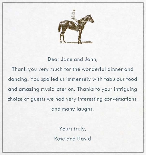 Equestrian Party Card designed by Bell'Invito.