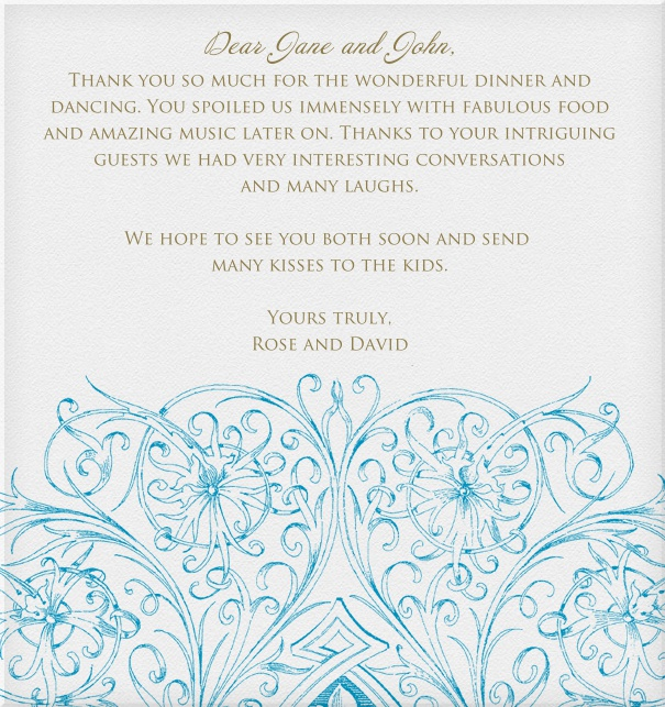 Wedding card online with Blue floral design.