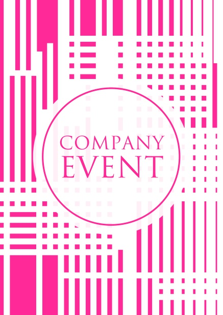 Online Corporate invitation card with matrix design in bright colors. Pink.