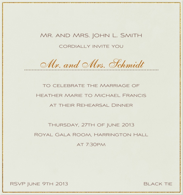 Paper color, classic Wedding Invitation Template.