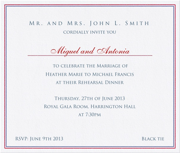 Paper color classic Party Invitation Card with colorful border.