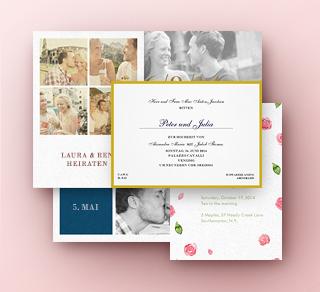 Hochzeitseinladungen, Hochzeits Save the dates und mehr
