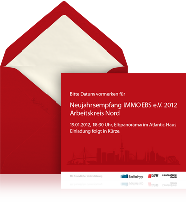 German Bank New Years Reception  Corporate Invitation Format