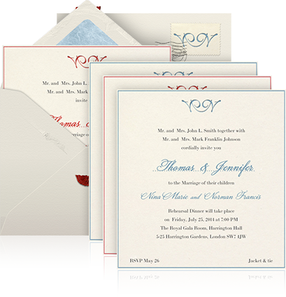 online wedding invitation example sending for a multiple invitation with beige envelope four paper colored