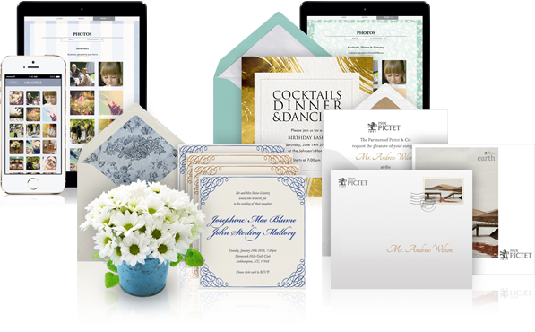 beautiful and stylish invitations, cards, save the dates, announcements and websites..