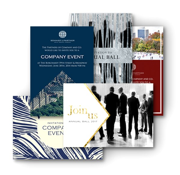 Corporate invitation design templates