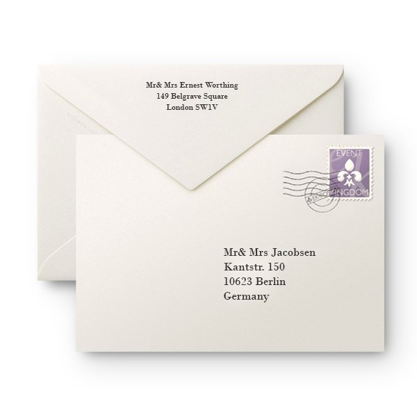 Fine paper and printing for cards and envelopes