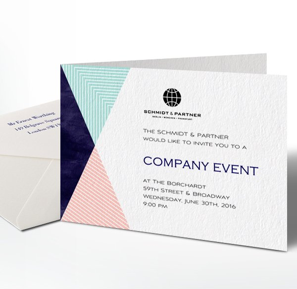 Corporate invitation paper card design