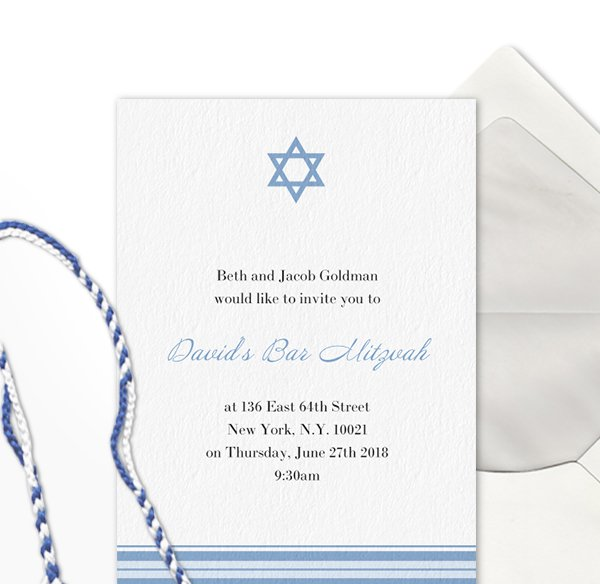 Bar & Bat Mitzvah invitations online and paper