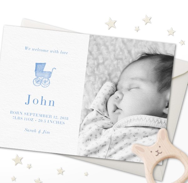 Birth announcements online and paper