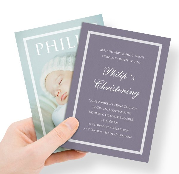 Christening invitations online and paper