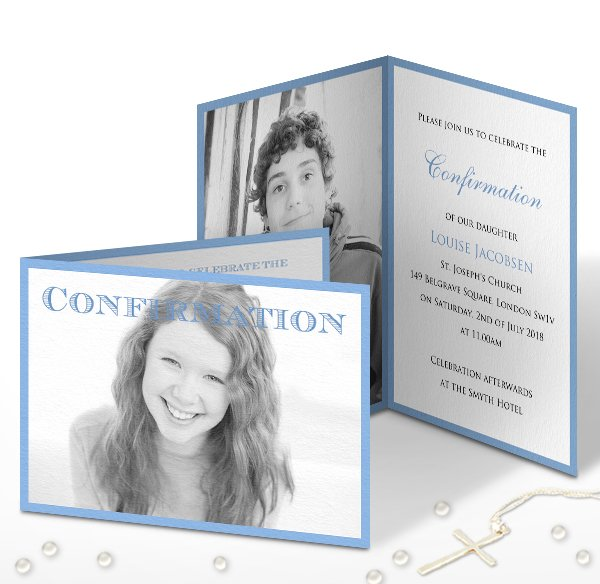 Confirmation and Communion invitations online and paper