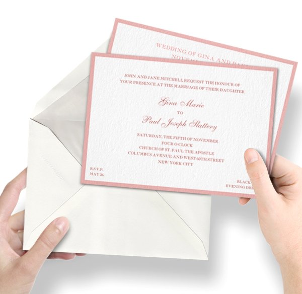 Fine paper cards and print for your personal wedding invitations