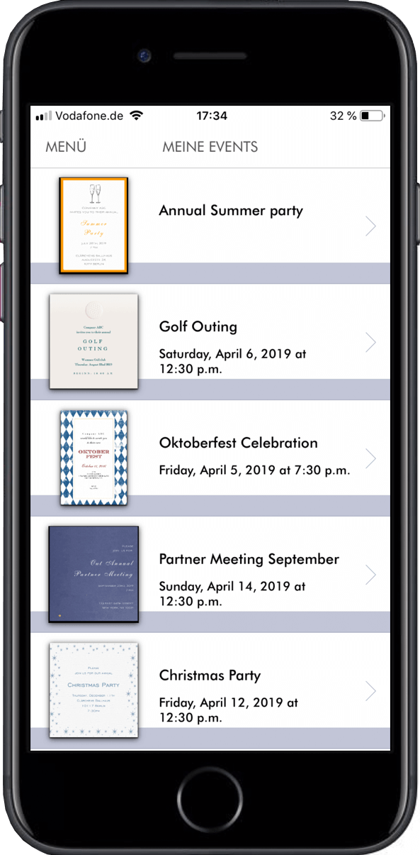 Access your events and recipient lists easily to manage your guest list
