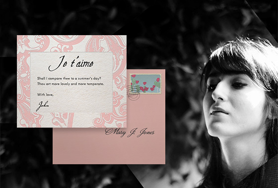 Valentine´s Card for online send or on papr