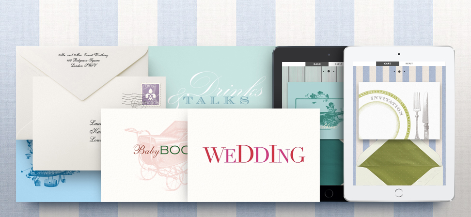 Online and paper cards created by paperthings.