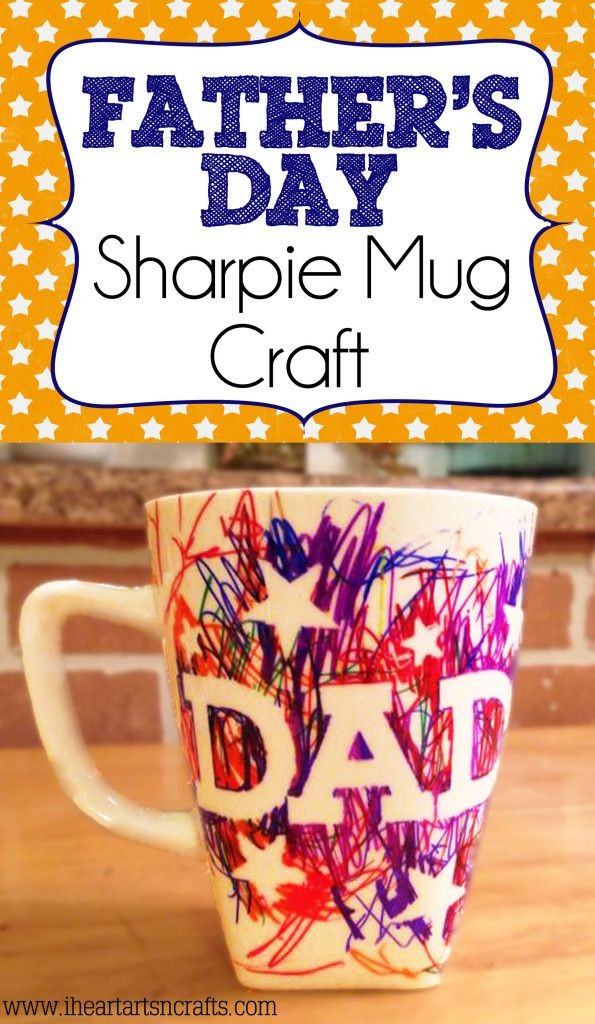 "Colorful Father's Day Mug wih ""Dad"" written on it."