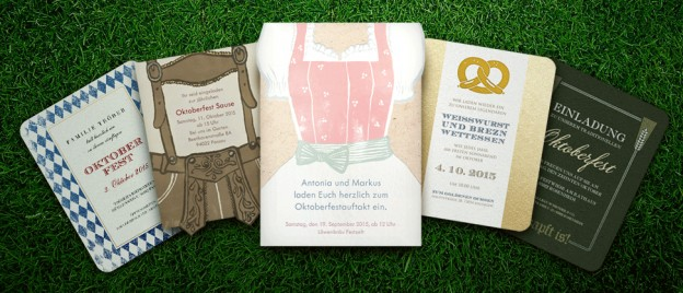 Invitations for the next Oktoberfest party.