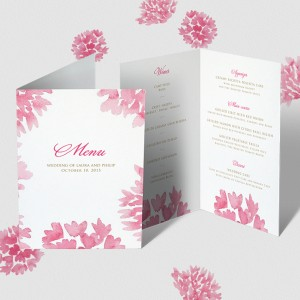 Menu card example