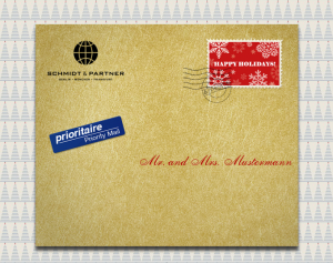 Golden online envelope front