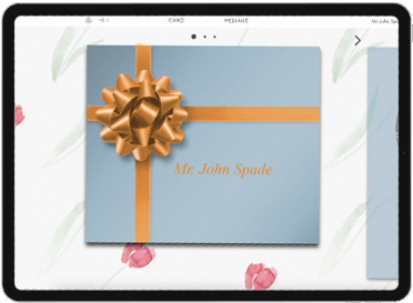Wrap your gift card in an animated virtual present